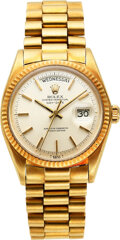 Timepieces:Wristwatch, Rolex, Ref. 1803 Gifted by Lyndon B Johnson Family to Lawr...