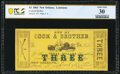 Obsoletes By State:Louisiana, New Orleans, LA- Cook & Brother $3 Mar. 15, 1862 PCGS Banknote Very Fine 30.. ...