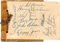 Autographs:Others, 1940's Baseball Autograph Album with Jackie Robinson....