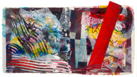 Sam Gilliam (b. 1933) Alice, 1992 Mixed media on handmade paper pulp 28 x 48 inches (71.1 x 121.9