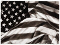 Works on Paper, Robert Longo (b. 1953). Study of American Flag X-17, 2012. Ink and charcoal on vellum. 15-3/4 x 21 inches (40.0 x 53.3 c...