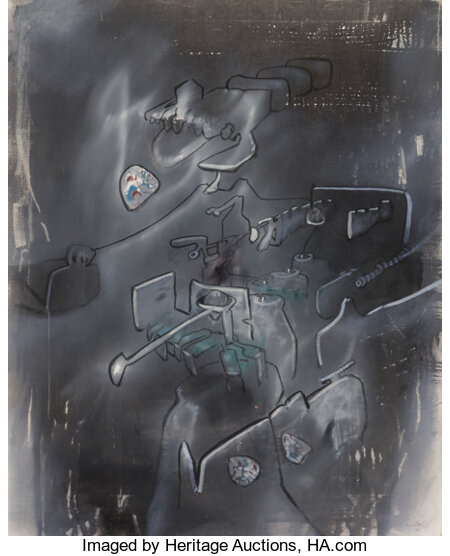 Roberto Matta (1911-2002) Untitled, 1973 Oil on canvas 31-1/8 x 25-1/4 inches (79 x 64 cm) Signed lower right ...