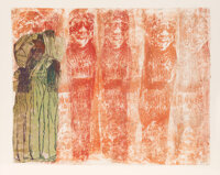 Nancy Spero (1926-2009) Mourning Women, 1990 Hand-printing and collage on paper 19-1/2 x 24-1/2 i