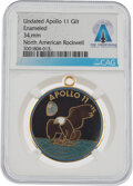 Explorers:Space Exploration, Apollo 11: Rockwell International Mission Insignia Gilt En...