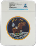 Explorers:Space Exploration, Apollo 11 Universal Commemorative Mission Insignia Patch Directly From The Armstrong Family Collection™, CAG Certified....