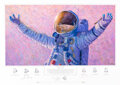 "Explorers:Space Exploration, Alan Bean Signed Limited Edition ""Hello Universe"" Print, #..."