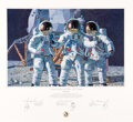 "Explorers:Space Exploration, Alan Bean Signed Limited Edition ""Conrad, Gordon, and Bean..."