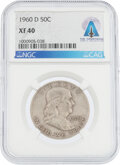 Explorers:Space Exploration, Coins: 1960-D 50¢ XF40 NGC Franklin Half Dollar Directly ...