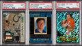 Football Cards:Lots, 1994-96 Laserview, Sportflics & Summit Football PSA Graded Trio (3) - Bledsoe, Elway & Faulk. ... (Total: 3 item)