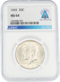Explorers:Space Exploration, Coins: 1965 50¢ MS64 NGC Kennedy Half Dollar Directly Fro...