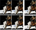 Explorers:Space Exploration, Buzz Aldrin Signed Large Apollo 11 Lunar Surface Color Photos (Six), Originally from His Personal Collection, with Certificate... (Total: 6 )