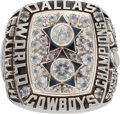 Football Collectibles:Others, 1977 Roger Staubach Dallas Cowboys Super Bowl XII Salesman's Sample Ring....