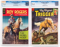 Roy Rogers and Trigger #1/Roy Rogers' Trigger #12 CGC-Graded (Dell/Gold Key, 1954-67).... (Total: 2 Comic Books)