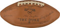 """Football Collectibles:Balls, 1968 Green Bay Packers Team Signed Football from The Jimmy """"The Greek"""" Snyder Collection...."""