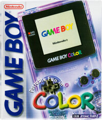Game Boy Color - Condition: NM Unopened/New in Box [Atomic Purple], GBC Nintendo 1998 USA