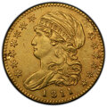 Early Half Eagles, 1811 $5 Small 5 -- Plugged -- PCGS Genuine. XF Details. Mintage 99,581....