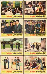 "A Hard Day's Night (United Artists, 1964). Overall: Fine/Very Fine. Lobby Card Set of 8 (11"" X 14""). ... (Tota..."