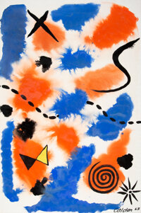 Alexander Calder (1898-1976) The Dotted Path, 1963 Gouache and ink on paper 40 x 27-1/4 inches (1