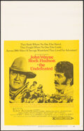 "Movie Posters:Western, The Undefeated & Other Lot (20th Century Fox, 1969). Overall: Very Fine-. Window Cards (2) Identical (14"" X 22""), Uncut Pres... (Total: 4 Items)"