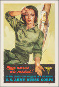 """Movie Posters:War, World War II Propaganda (Recruiting Publicity Bureau of United States Army, 1944). Rolled, Very Fine. Poster (17"""" X 25.25"""") ..."""