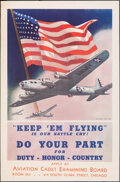 """Movie Posters:War, World War II Propaganda (U.S. Army Recruiting and Induction Service, 1942). Rolled, Fine+. Army Recruiting Poster (25"""" X 38""""..."""