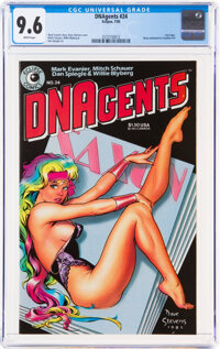 DNAgents #24 (Eclipse, 1985) CGC NM+ 9.6 White pages