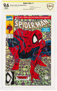 Spider-Man #1 Regular Poly-Bagged Edition - Verified Signature: Todd McFarlane (Marvel, 1990) CBCS NM+ 9.6 White pages...