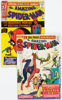 The Amazing Spider-Man Annual #1 and 2 Group (Marvel, 1964-65) Condition: Average GD.... (Total: 2 Comic Books)