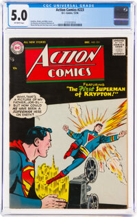 Action Comics #223 (DC, 1956) CGC VG/FN 5.0 Off-white pages