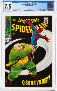 The Amazing Spider-Man #60 (Marvel, 1968) CGC VF- 7.5 Off-white to white pages