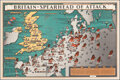 "Movie Posters:War, World War II Propaganda (British Information Services, 1943). Rolled, Very Fine+. Poster (17.25"" X 25.75"") ""Britain-Spearhea..."