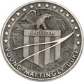 Explorers:Space Exploration, Apollo 16 Flown Silver Robbins Medallion, Serial Number 54, Originally from the Personal Collection of Mission Backup Lunar Mo...
