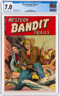 Western Bandit Trails #1 (St. John, 1949) CGC FN/VF 7.0 Off-white to white pages