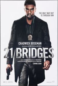 "21 Bridges (STX, 2019). Rolled, Very Fine. One Sheet (27"" X 40"") DS Advance. Crime"