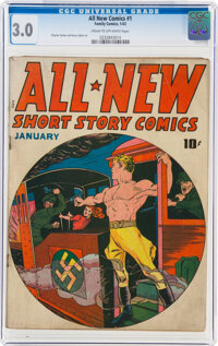 All New Comics #1 (Family Comics/Harvey Publications, 1943) CGC GD/VG 3.0 Cream to off-white pages