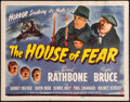"Movie Posters:Mystery, The House of Fear (Universal, 1945). Very Fine. Title Lobby Card (11"" X 14""). Mystery.. ..."