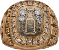 1979 Montreal Canadiens Stanley Cup Championship Ring Presented to Guy Lafleur with Lafleur Letter