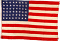 Military & Patriotic:WWII, D-Day Assault Ship Gold Beach USS LST-21 48-Star Flag.. ...