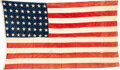 Military & Patriotic:WWII, D-Day Assault Ship Juno Beach USS LST-517 48-Star Flag.. ...