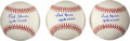 Explorers:Space Exploration, Fred Haise Signed Baseballs (Three). A Rawlings O...