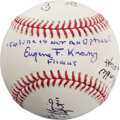 Explorers:Space Exploration, NASA Mission Control: Baseball Signed by Gerry Griffin, Ge...