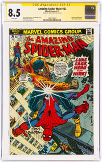 The Amazing Spider-Man #123 Signature Series: John Romita (Marvel, 1973) CGC VF+ 8.5 White pages