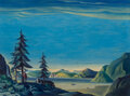 Paintings, Dale Nichols (American, 1904-1995). Land of the Midnight Sun, 1944. Oil on canvas . 30-1/8 x 40-1/4 inches (76.5 x 102.2...
