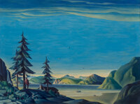 Dale Nichols (American, 1904-1995) Land of the Midnight Sun, 1944 Oil on canvas 30-1/8 x 40-1/4
