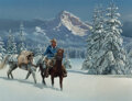 Paintings, Chuck Ren (American, 1941-1995). First Snow, 1980. Oil on board. 20-1/2 x 27-1/4 inches (52.1 x 69.2 cm). Signed and dat...