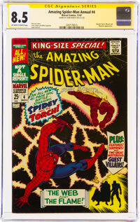 The Amazing Spider-Man Annual #4 Signature Series: John Romita (Marvel, 1967) CGC VF+ 8.5 Off-white to white pages
