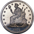 Patterns, 1871 $1 Dollar, Judd-1149, Pollock-1291, R.7, PR66+ Cameo PCGS. CAC....