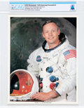 Explorers:Space Exploration, Neil Armstrong Signed and Inscribed White Spacesuit Color ...