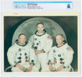 """Explorers:Space Exploration, Apollo 11: Original NASA """"Red Number"""" White Spacesuit Crew Color Photograph, Directly From The Armstrong Family Collection..."""