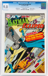 The Brave and the Bold #64 Batman vs. Eclipso - Boston Pedigree (DC, 1966) CGC VF/NM 9.0 Off-white to white pages